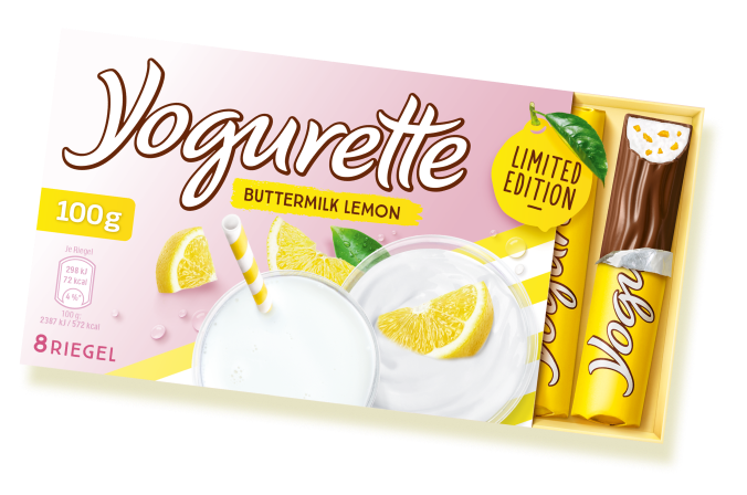 Yogurette buttermilk-lemon Verpackung